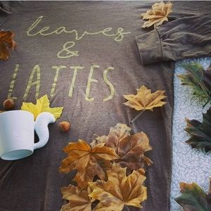 Tops - Leaves & Lattes L/S Tee - perfect for Fall!